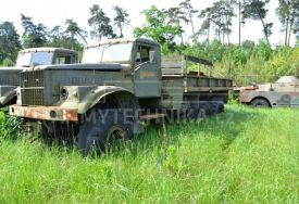 Kraz 255b all-terrain flatbed for spare parts